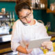 restaurant manager using technology in restaurant operations